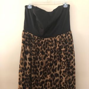 Forever 21 Plus- 1X strapless leopard dress